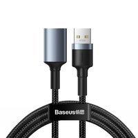 Baseus Cafule durable nylon cable cord extension USB 3.0 (male) / USB 3.0 (female) 2 A 1 m gray (CADKLF-B0G)