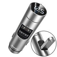 Baseus Energy Column Bluetooth FM Transmitter MP3 Car Charger 2x USB QC3.0 3,1A silver (CCNLZ-0S)