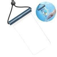 Baseus transparent waterproof phone case bag for swimming pool beach blue (ACFSD-E03)