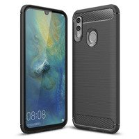 Carbon Case Flexible Cover TPU Case for Huawei P Smart Plus 2019 / Honor 10 Lite black