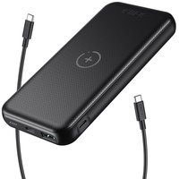 Choetech power bank 10000mAh 18W Quick Charge Power Delivery USB / USB Type C wireless Qi charger 10W black (B650)
