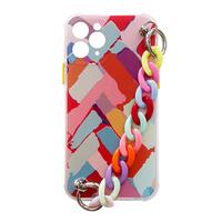 Color Chain Case gel flexible elastic case cover with a chain pendant for iPhone 8 Plus / iPhone 7 Plus multicolour