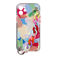 Color Chain Case gel flexible elastic case cover with a chain pendant for iPhone SE 2020 / iPhone 8 / iPhone 7 multicolour