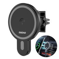 Dudao magnetic car phone holder wireless Qi charger 15 W (MagSafe compatible for iPhone) black (F13)