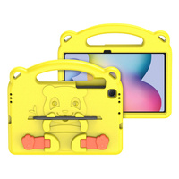 Dux Ducis Panda kids safe soft tablet case for Samsung Galaxy Tab S6 Lite with a holder for stylus pen yellow