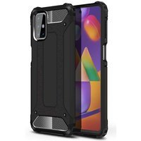 Hybrid Armor Case Tough Rugged Cover for Oppo A92 / A72 / A52 black