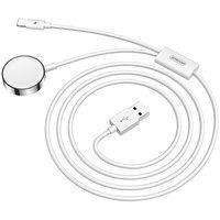Joyroom 2in1 wirelee Qi charger for Apple Watch / USB - Lightning cable 1,5 m white (S-IW002S)