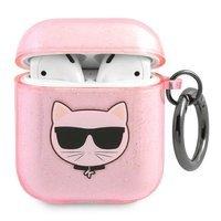 Karl Lagerfeld KLA2UCHGP AirPods cover pink / pink Glitter Choupette