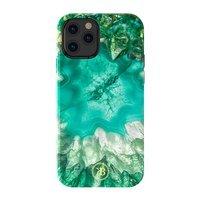 Kingxbar Agate Series case decorated printed Agate iPhone 12 Pro Max green