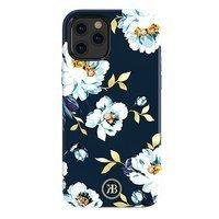 Kingxbar Blossom case decorated with original Swarovski crystals iPhone 12 Pro / iPhone 12 multicolour (Gardenia)