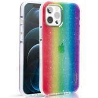 Kingxbar Ombre Case Back Cover for iPhone 12 Pro Max multicolour