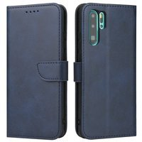 Magnet Case elegant bookcase type case with kickstand for Huawei P30 Pro blue