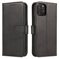 Magnet Case elegant bookcase type case with kickstand for Huawei Y5p black