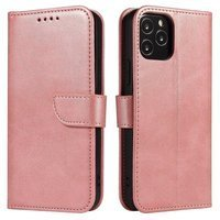 Magnet Case elegant bookcase type case with kickstand for Huawei Y6p pink