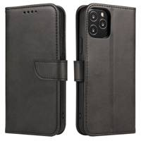 Magnet Case elegant bookcase type case with kickstand for Oppo Reno 4 Pro 5G black