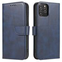 Magnet Case elegant bookcase type case with kickstand for Samsung Galaxy A40 blue