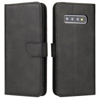 Magnet Case elegant bookcase type case with kickstand for Samsung Galaxy S10 black
