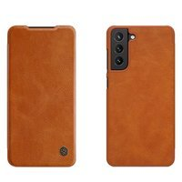 Nillkin Qin original leather case cover for Samsung Galaxy S21 FE brown