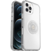 OtterBox Symmetry Clear POP - Protective case with PopSockets for iPhone 12/12 Pro (transparent)