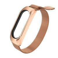 Replacment metal band bracelet strap for Xiaomi Mi Band 6 / Mi Band 5 / Mi Band  4 / Mi Band 3 rose-gold