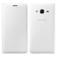 Samsung Wallet Cover Bookcase with Card Slot for Samsung Galaxy J3 2016 white (EF-WJ320PWEGWW)