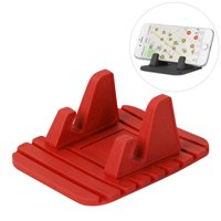 Silicone Car Phone Holder Dashboard Desktop Stand red