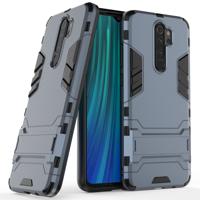 Stand Armor Case Kickstand Tough Rugged Cover for Xiaomi Redmi Note 8 Pro blue