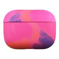Watercolor AirPods Case colorful hard case for AirPods Pro pink