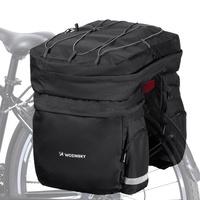 Wozinsky Bicycle Bike Pannier Bag Rear Trunk Bag with Shoulder Strap and Bottle Case 60L black (WBB13BK)