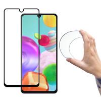 Wozinsky Full Cover Flexi Nano Glass Hybrid Screen Protector with frame for Samsung Galaxy A41 black