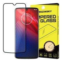 Wozinsky Tempered Glass Full Glue Super Tough Screen Protector Full Coveraged with Frame Case Friendly for Motorola Moto Z4 black