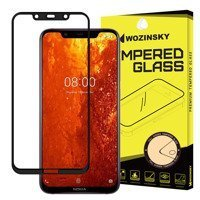 Wozinsky Tempered Glass Full Glue Super Tough Screen Protector Full Coveraged with Frame Case Friendly for Nokia 8.1 / Nokia X7 black