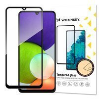Wozinsky Tempered Glass Full Glue Super Tough Screen Protector Full Coveraged with Frame Case Friendly for Samsung Galaxy A22 4G black