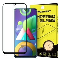 Wozinsky Tempered Glass Full Glue Super Tough Screen Protector Full Coveraged with Frame Case Friendly for Samsung Galaxy M30s / Galaxy M21 black