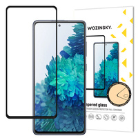 Wozinsky Tempered Glass Full Glue Super Tough Screen Protector Full Coveraged with Frame Case Friendly for Samsung Galaxy S20 FE black