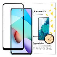 Wozinsky Tempered Glass Full Glue Super Tough Screen Protector Full Coveraged with Frame Case Friendly for Xiaomi Redmi 10 black