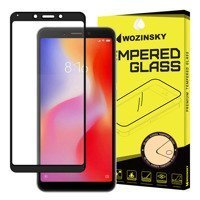Wozinsky Tempered Glass Full Glue Super Tough Screen Protector Full Coveraged with Frame Case Friendly for Xiaomi Redmi 6 black