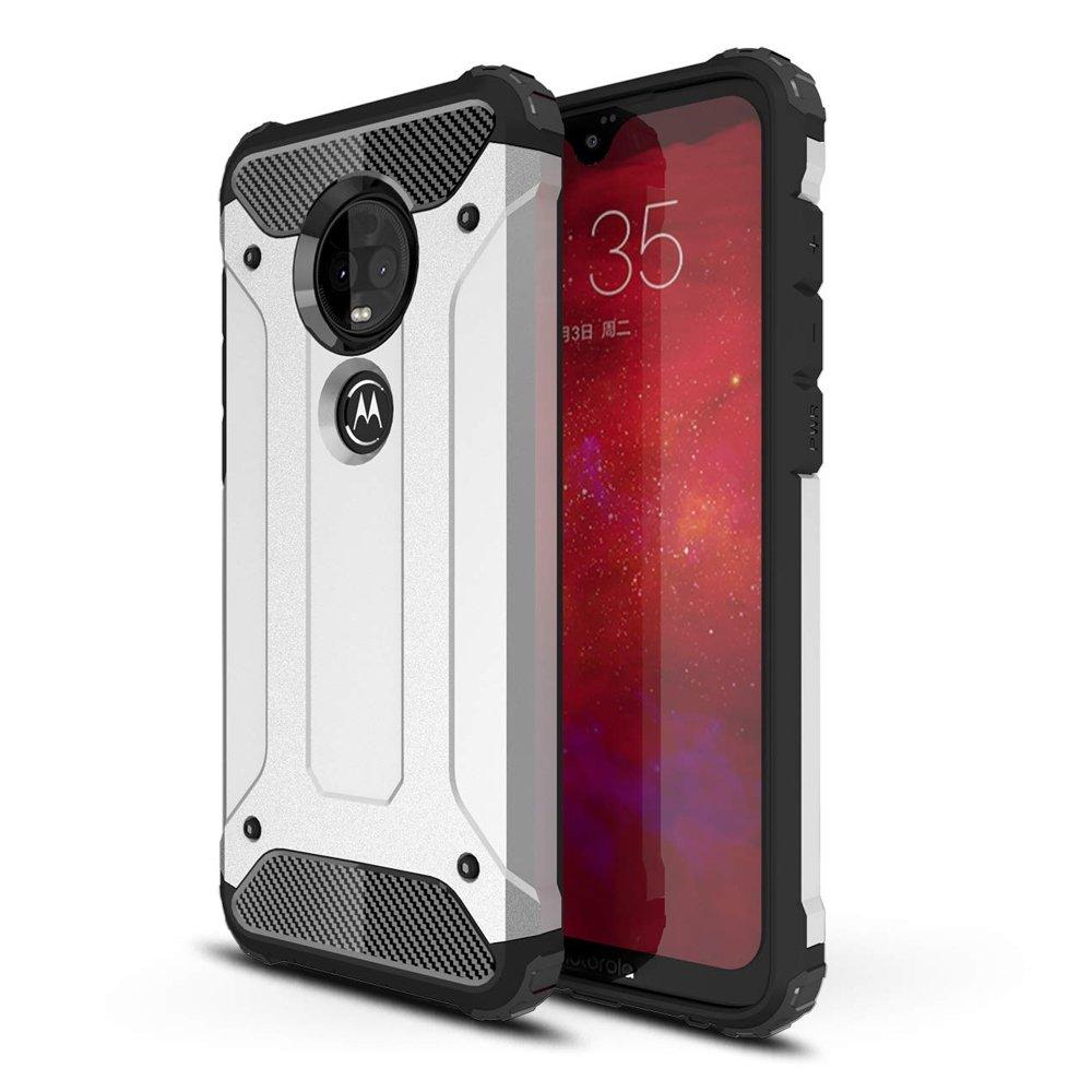 Cell Phone Cases And Covers Hybrid Armor Case Tough Rugged Cover For Motorola Moto G7 Plus G7 Silver Sklep Hurtel Sklep Gsm Akcesoria Na Tablet I Telefon