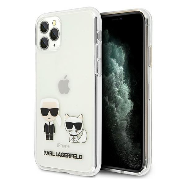 Karl Lagerfeld KLHCN65CKTR iPhone 11 Pro Max hardcase Transparent Karl & Choupette