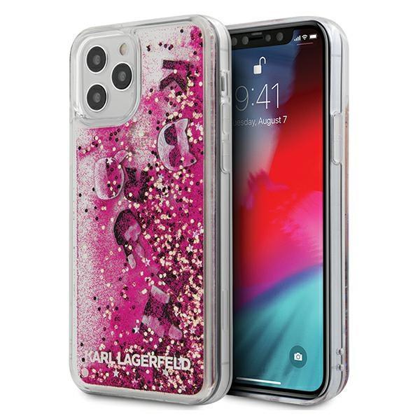 "Karl Lagerfeld KLHCP12MROPI iPhone 12/12 Pro 6.1 ""pink / pink hardcase Glitter Charms"