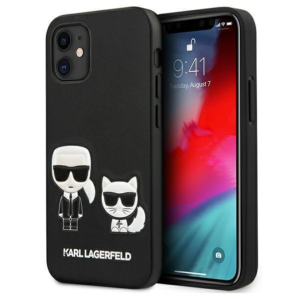 "Karl Lagerfeld KLHCP12SPCUSKCBK iPhone 12 mini 5,4 ""black / black hardcase Ikonik Karl & Choupette"