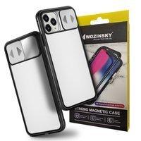 [PO ZWROCIE] Wozinsky Magnetic Cam Slider Case magnetyczne etui 360 na cały telefon szkło na ekran osłona na aparat Samsung Galaxy S20 czarny