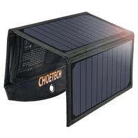 Choetech składana ładowarka solarna słoneczna fotowoltaiczna 19W 2x USB 2,4A czarny (SC001)