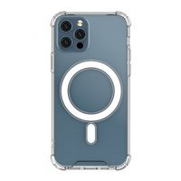 Clear Magnetic Case MagSafe pancerne żelowe elastyczne etui do iPhone 12 Pro Max przezroczysty