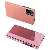 Clear View Case futerał etui z klapką Xiaomi Redmi Note 10 Pro różowy
