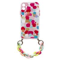 Color Chain Case żelowe elastyczne etui z łańcuchem łańcuszkiem zawieszką do iPhone 8 Plus / iPhone 7 Plus wielokolorowy