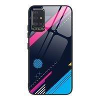Color Glass Case etui pokrowiec nakładka ze szkła hartowanego z osłoną na aparat Samsung Galaxy A71 pattern 4