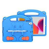 Dux Ducis Panda bezpieczne dla dzieci dziecięce miękkie etui do iPad 10.2'' 2021 / iPad 10.2'' 2020 / iPad 10.2'' 2019 z miejscem na rysik niebieski