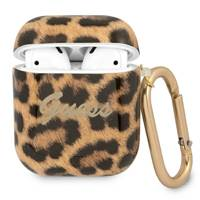 Guess GUA2USLEO AirPods cover złoty/gold Leopard Collection