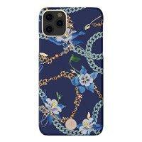 Kingxbar Luxury Series etui ozdobione oryginalnymi Kryształami Swarovskiego iPhone 11 Pro Max niebieski